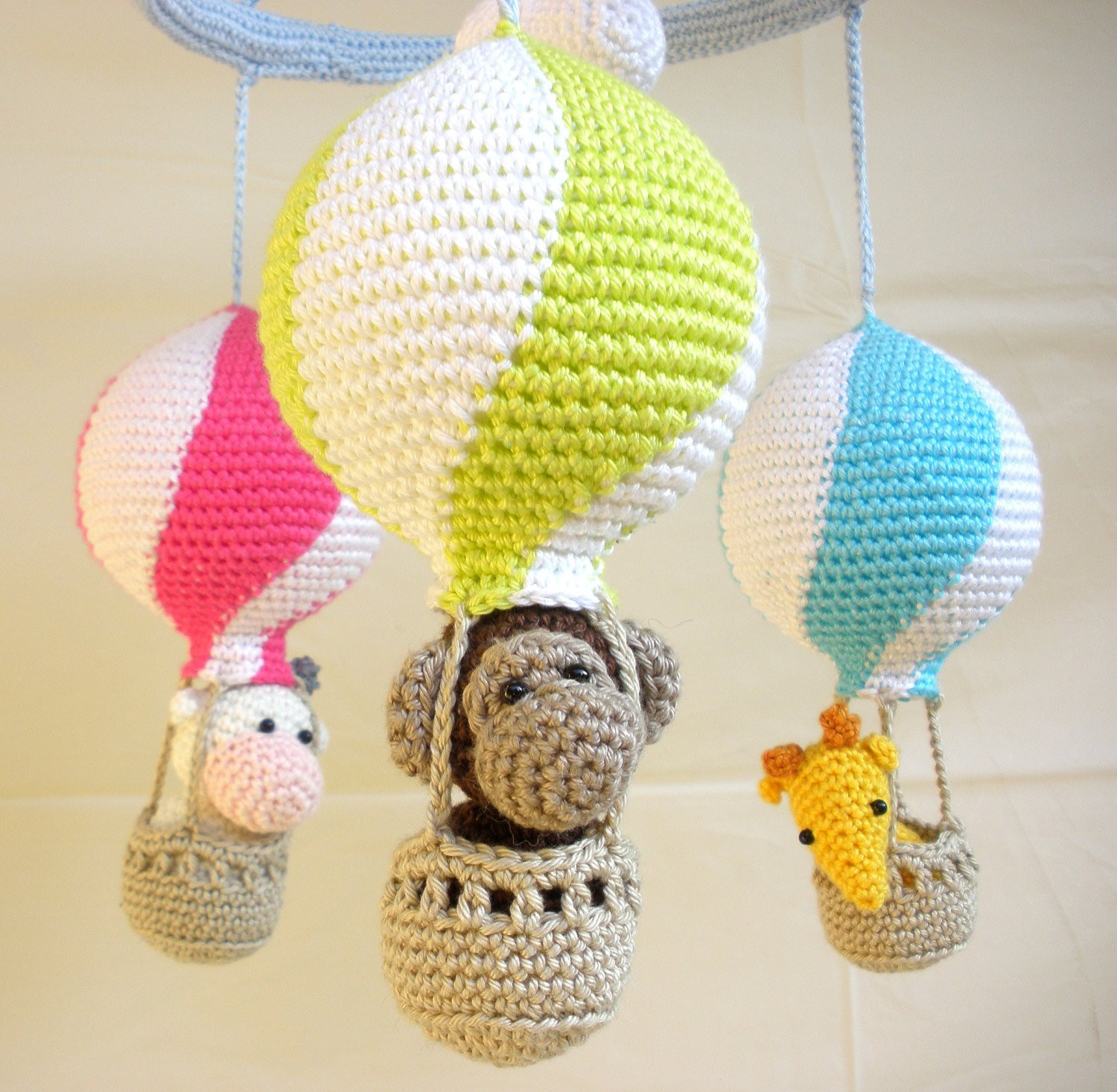 Best Of Baby Gear Galore Hot Air Balloon Mobile Crochet Mobile Crochet Baby Mobile Of Amazing 42 Ideas Crochet Baby Mobile