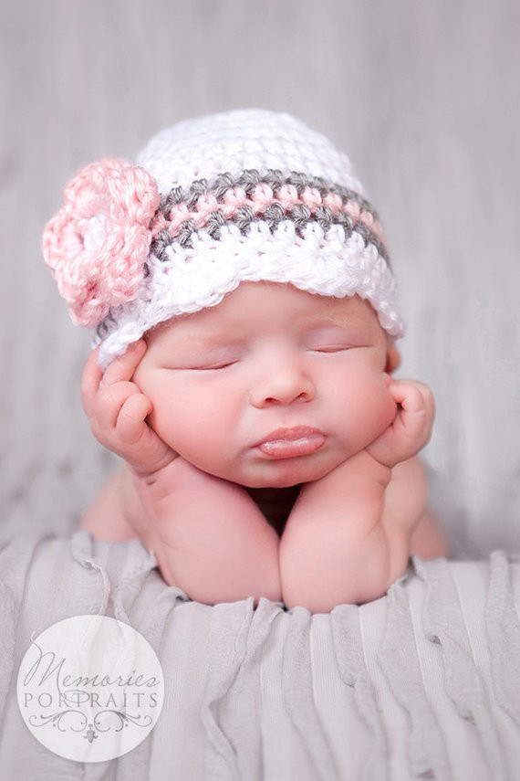 Best Of Baby Girl Hat Ready to Ship Crochet Newborn Hat Baby Girl Newborn Baby Beanies Of Contemporary 45 Pictures Newborn Baby Beanies