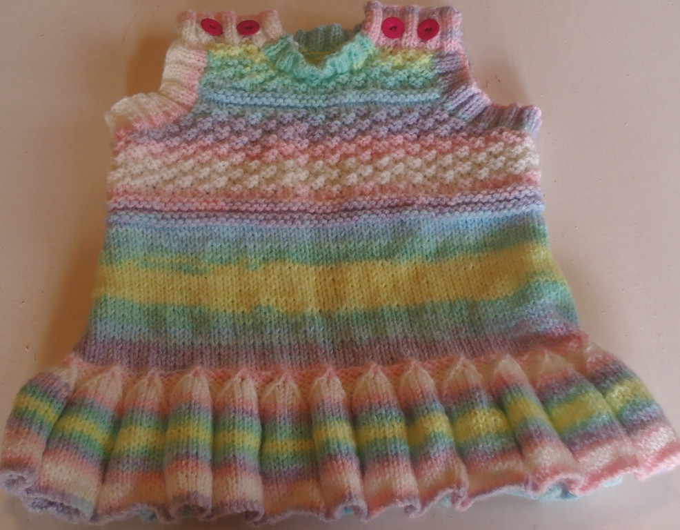 Baby Pinafore Pattern a free knitting pattern for a babies