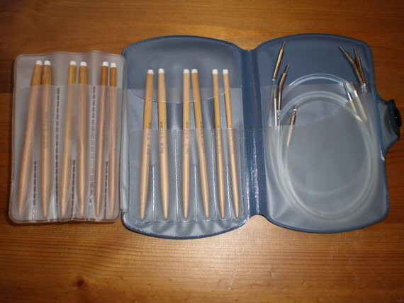 Bamboo Interchangeable Circular Knitting Needle Set NEW