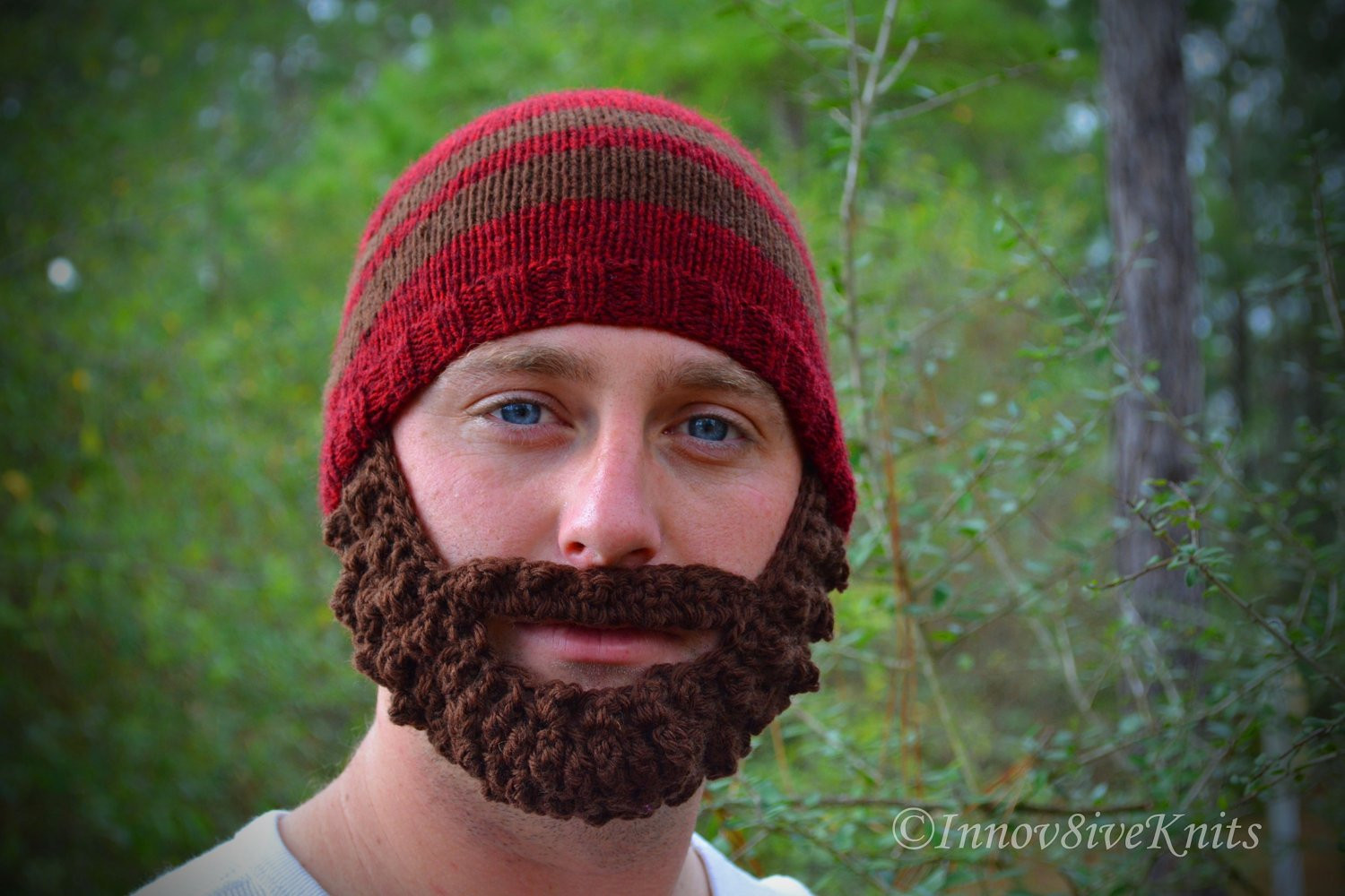 Best Of Bearded Beanie Hat Hand Knit and Crochet In Red and Brown with Crochet Beard Hat Of Charming 44 Models Crochet Beard Hat