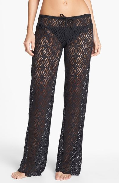 Best Of Becca Crochet Coverup Pants In Black Black Crochet Cover Up Of Superb 42 Images Black Crochet Cover Up