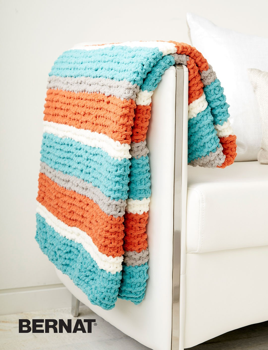 Bernat Get Fresh Throw Knit Pattern