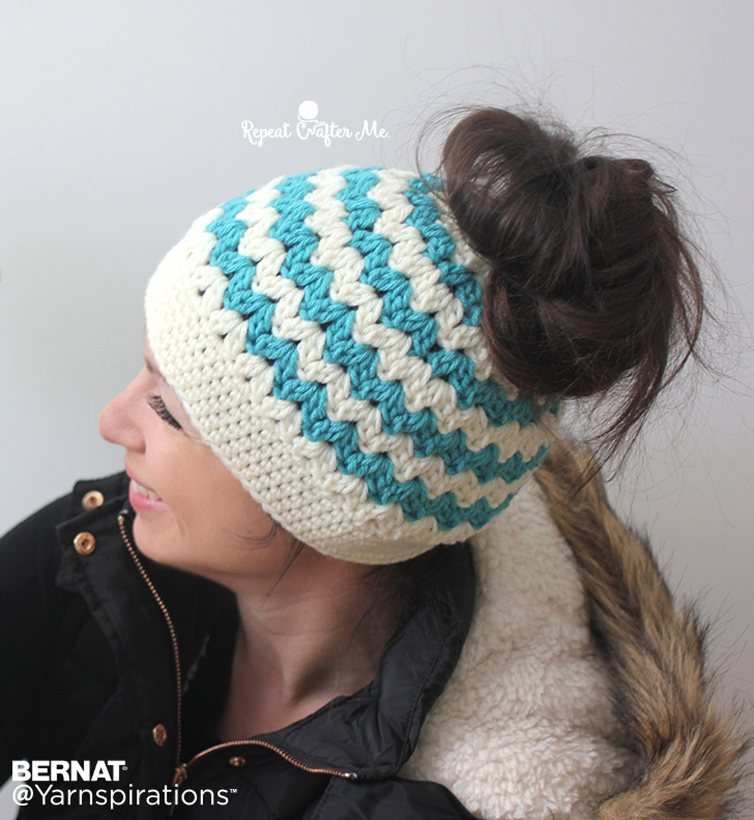 Best Of Bernat Mommy and Me Messy Bun Hats Crochet Pattern Free Crochet Messy Bun Pattern Of Marvelous 48 Pics Free Crochet Messy Bun Pattern