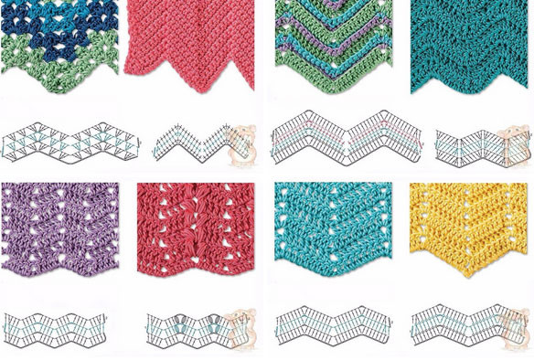 Best Of Best 8 Herringbone Zig Zag Crochet Stitches for Free Zig Zag Crochet Afghan Pattern Of New 43 Pics Zig Zag Crochet Afghan Pattern