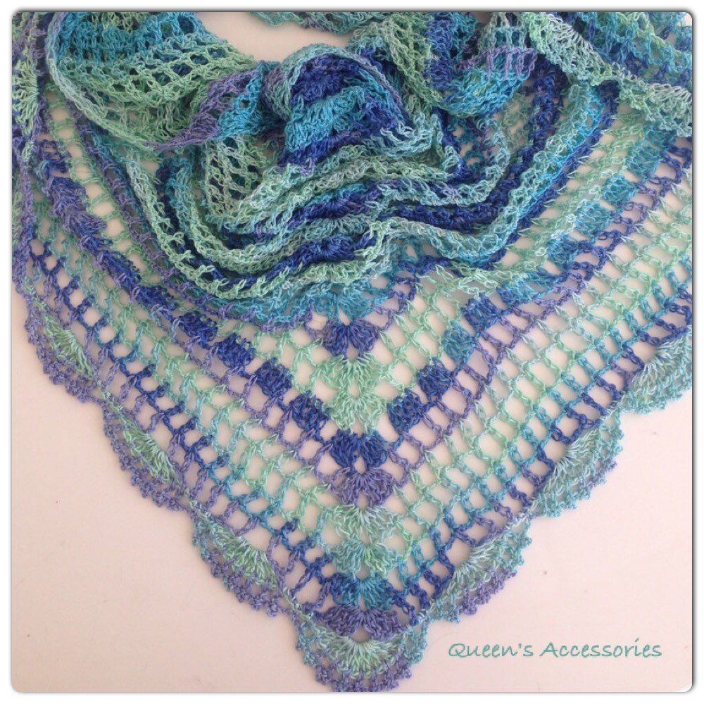 Best Of Best Selling Item Crochet Blue Mint Ombre Shawl Handmade Selling Crochet Of Top 47 Ideas Selling Crochet