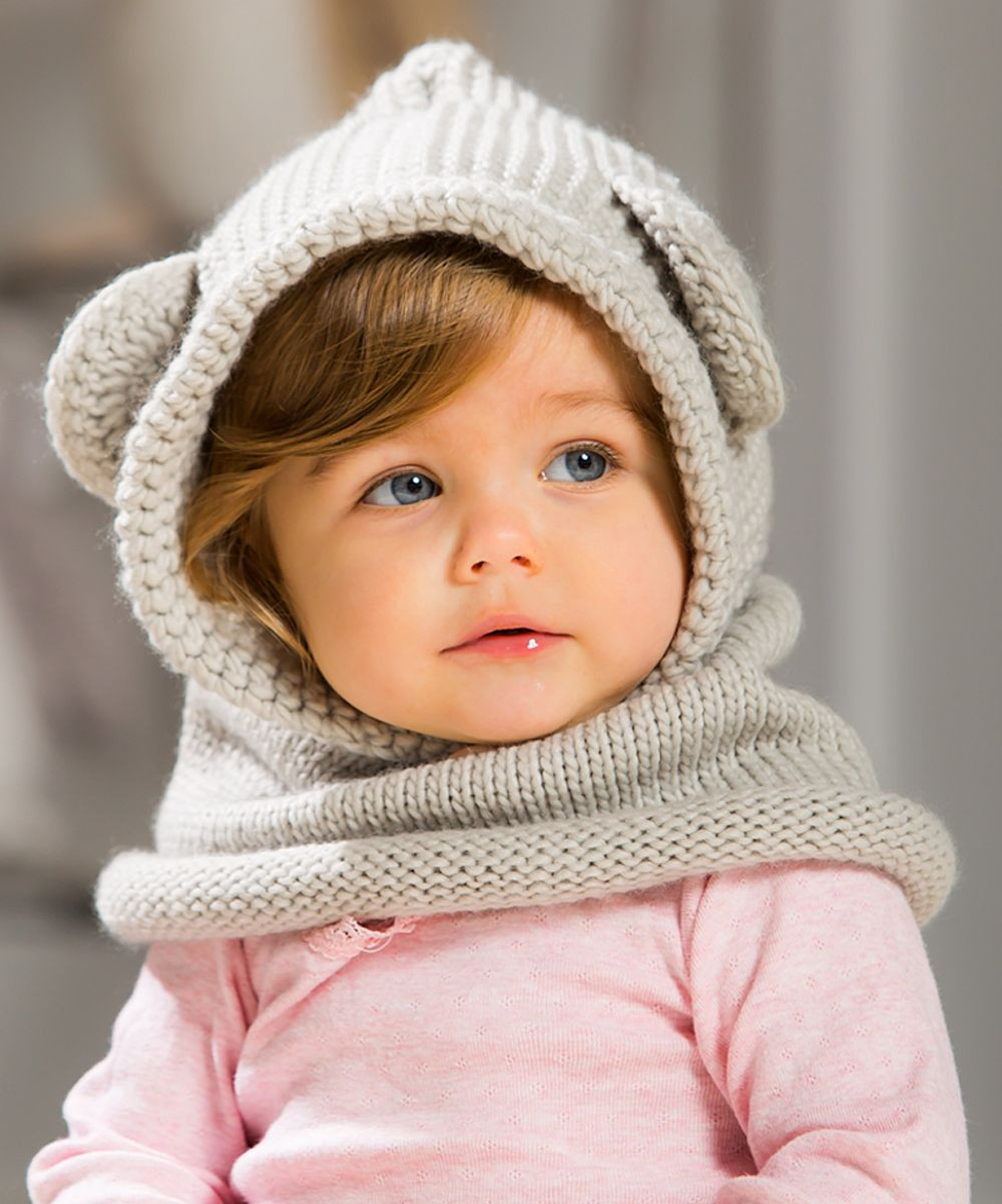 Best Of Blossoms & Buds Light Gray Bear Hooded Knit Beanie Knitted Baby Beanies Of Charming 44 Models Knitted Baby Beanies