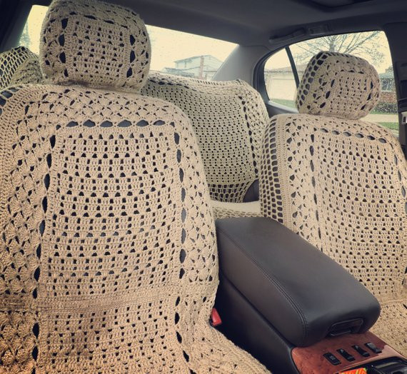 Best Of Boho Crochet Seat Covers Crochet Seat Cover Of Beautiful Crochet Car Front Seat Cover Aran Grey Heather Ccfsc1a Crochet Seat Cover