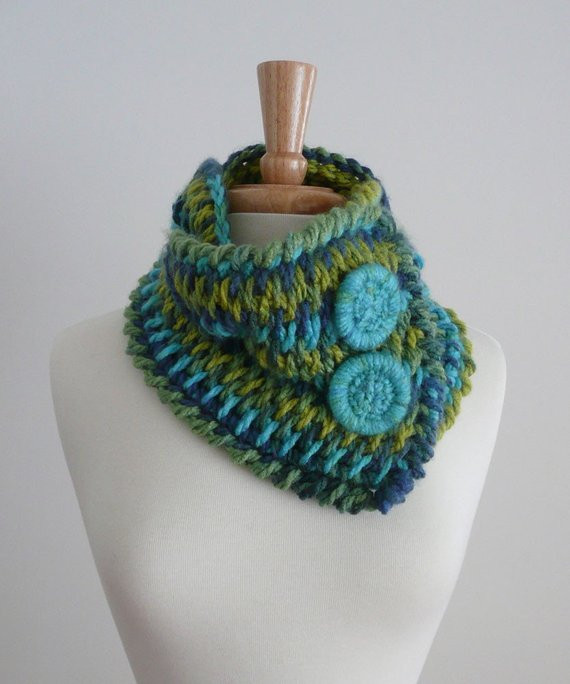 Best Of Braided Scarf Cowl Neck Warmer Blues and Greens Crochet Cowl Neck Scarf Of Superb 49 Models Crochet Cowl Neck Scarf