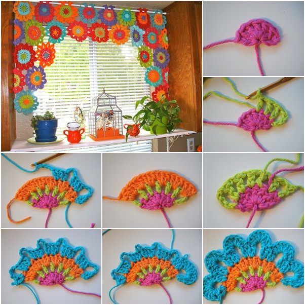 Best Of Bright and Beautiful Homemade Crochet Flower Curtain Crochet Curtain Patterns Of Contemporary 49 Ideas Crochet Curtain Patterns