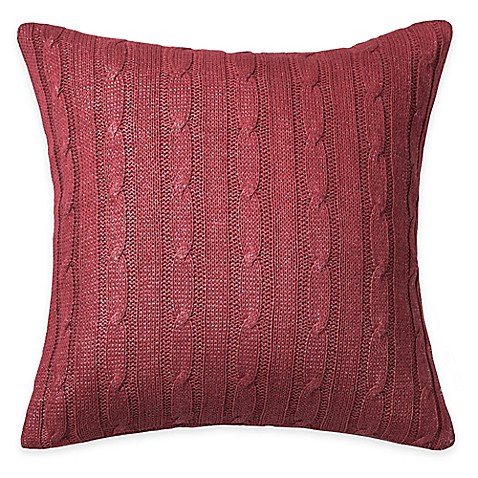 Best Of Buy Rizzy Home Cable Knit Square Throw Pillow In Red Cable Knit Throw Pillow Of Great 48 Ideas Cable Knit Throw Pillow