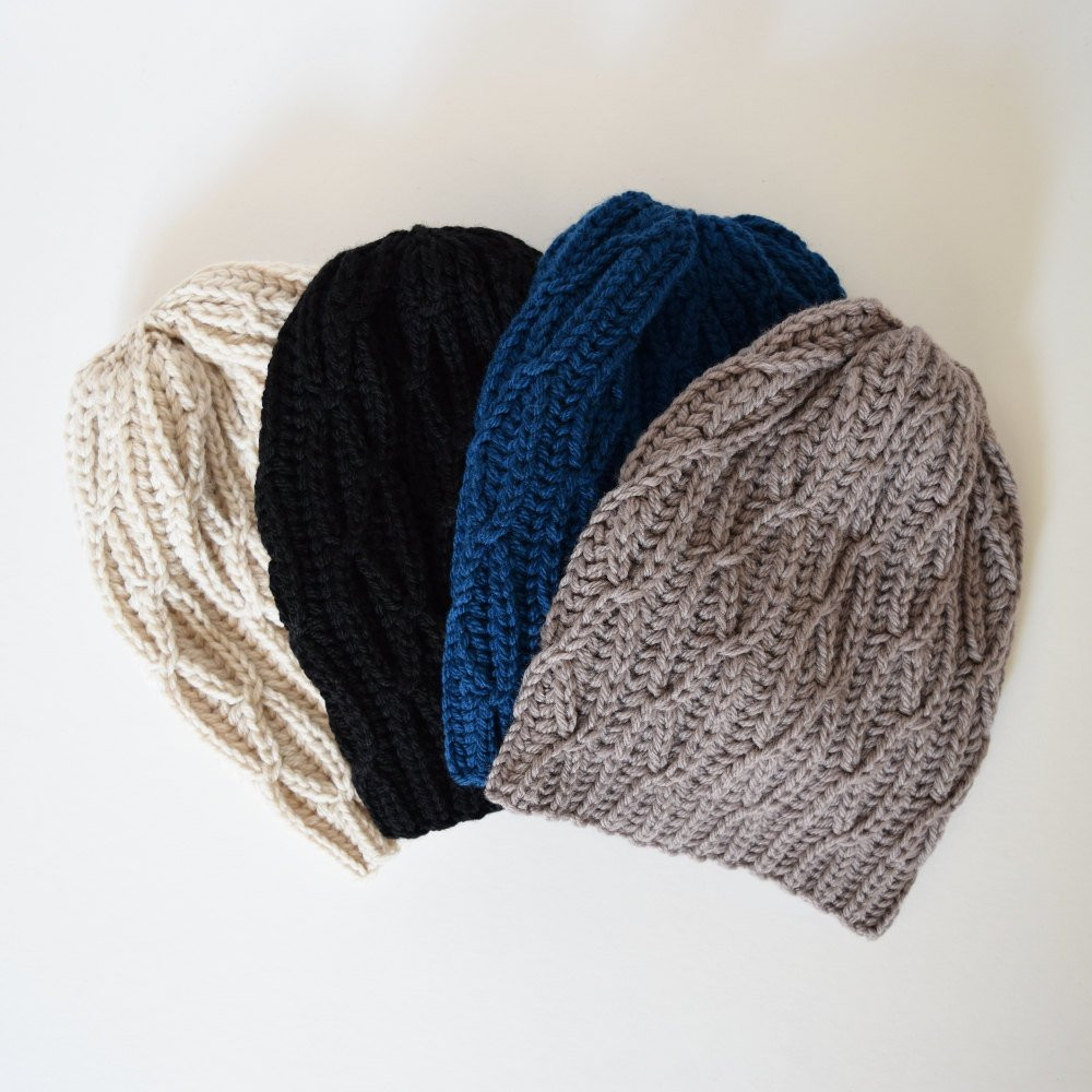 Cable Knit Hat Slouchy Beanie Chunky Hat Winter Hat by