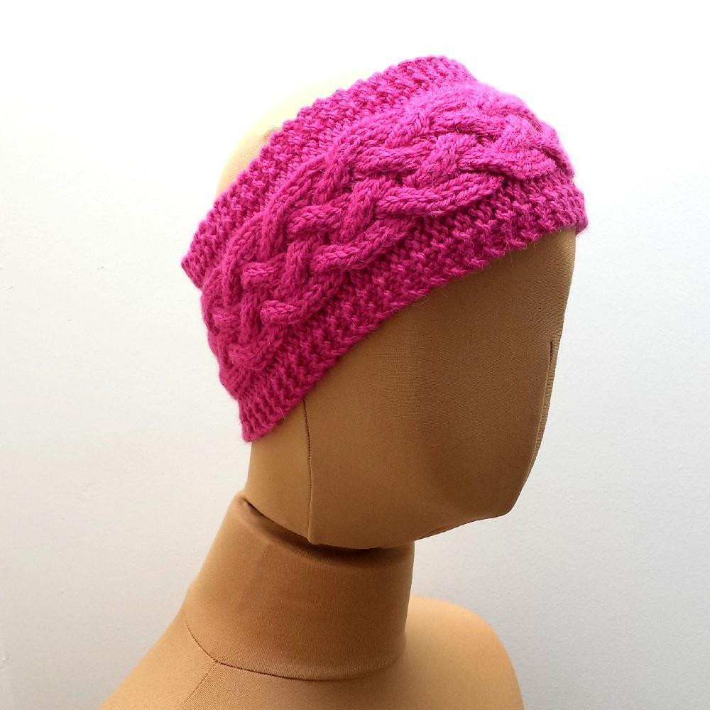 Cabled Ear Warmer Headband Knitting pattern by
