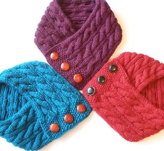 Cabled Neck Warmer Knitting Pattern PDF Permission granted