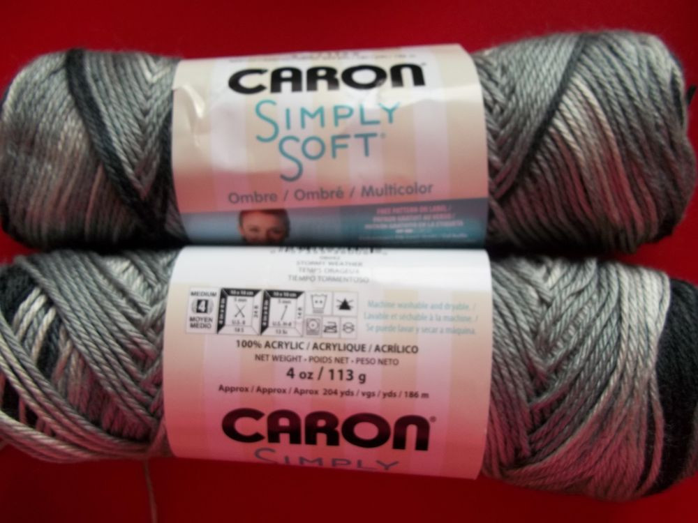 Best Of Caron Simply soft Ombre Yarn Stormy Weather Lot Of 2 Caron Simply soft Variegated Yarn Of Marvelous 46 Ideas Caron Simply soft Variegated Yarn