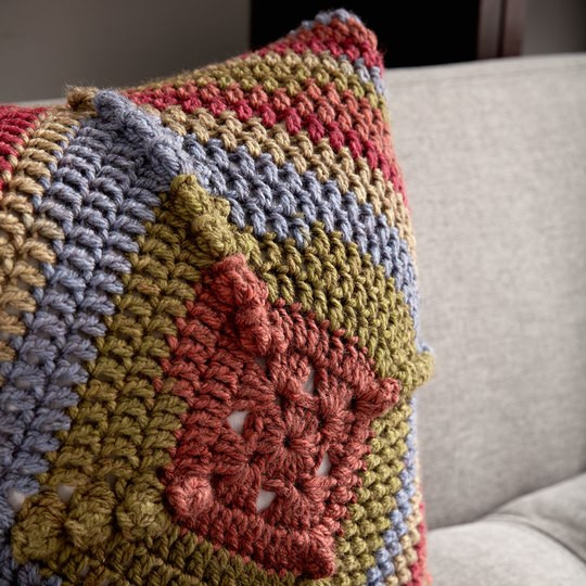 Best Of Caron Tea Cakes™ Granny Square Pillow In Spiced Cider Caron Tea Cakes Yarn Patterns Of Innovative 45 Models Caron Tea Cakes Yarn Patterns