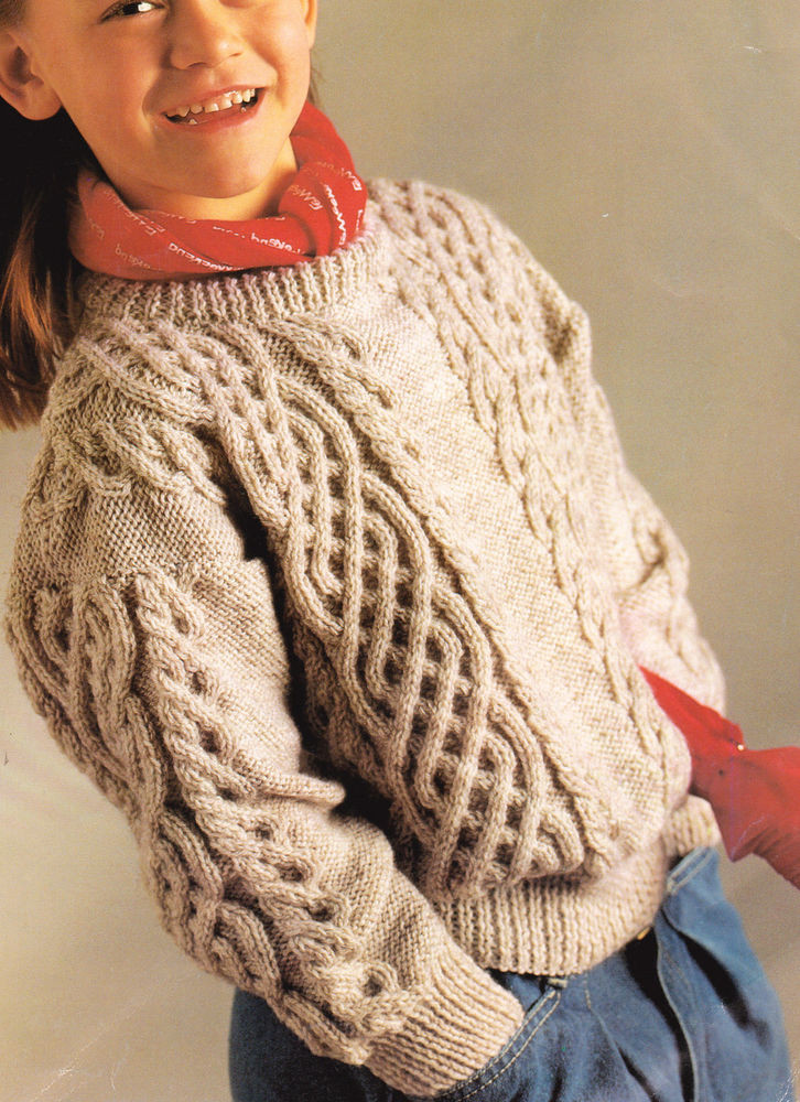 """Best Of Celtic Braided Cable Aran Style Childrens Sweater 24"""" 32 Knitting Patterns Children Of Brilliant 47 Images Knitting Patterns Children"""