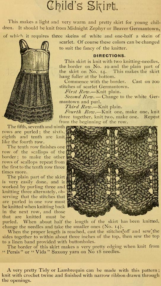 Best Of Child S Skirt Vintage Knit 1885 ⋆ Knitting Bee Free Knitting Patterns for Children Of Awesome 47 Models Free Knitting Patterns for Children