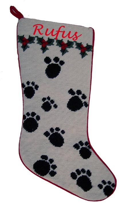 Best Of Christmas Dog Breed Stocking Needlepoint Paw Prints Dog Paw Stocking Of Charming 44 Ideas Dog Paw Stocking