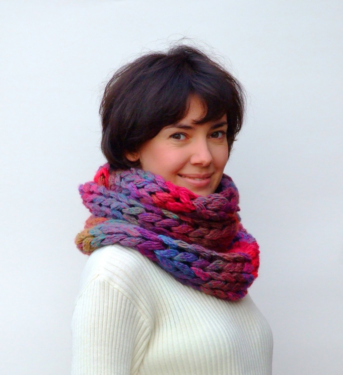 Best Of Chunky Infinity Knit Scarf Cowl Chunky Knit Scarf Of Top 50 Photos Chunky Knit Scarf