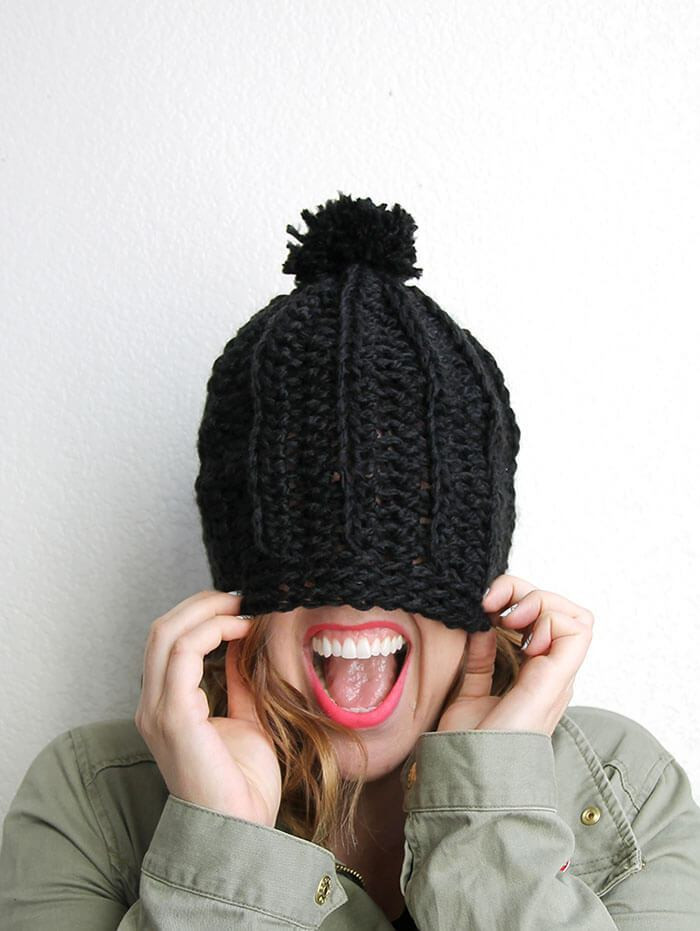 Best Of Chunky Ribbed Slouch Hat – Free Crochet Pattern Chunky Crochet Hat Of Awesome 45 Models Chunky Crochet Hat