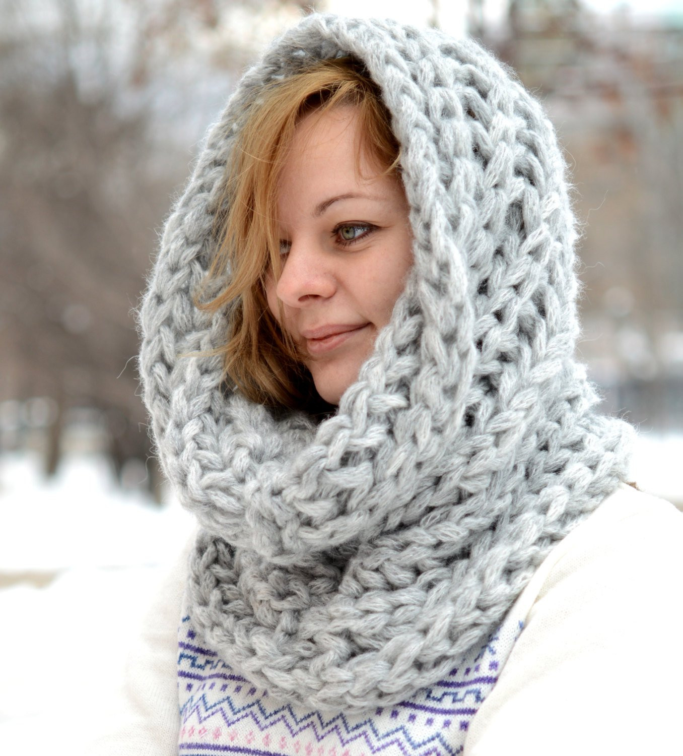 Best Of Chunky Scarf Knitted Cowl Infinity Scarf Neck Warmer Cowl Scarf Of Innovative 48 Photos Cowl Scarf