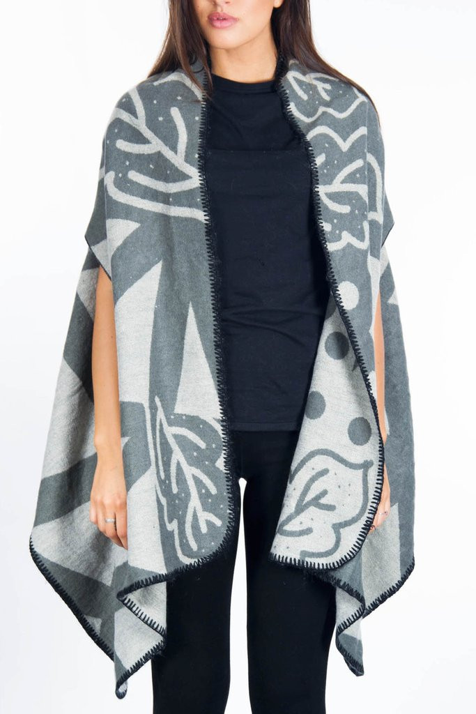 Best Of Cool Women S Grey Printed Poncho – Everything10pounds Cool Ponchos Of Luxury 46 Pics Cool Ponchos