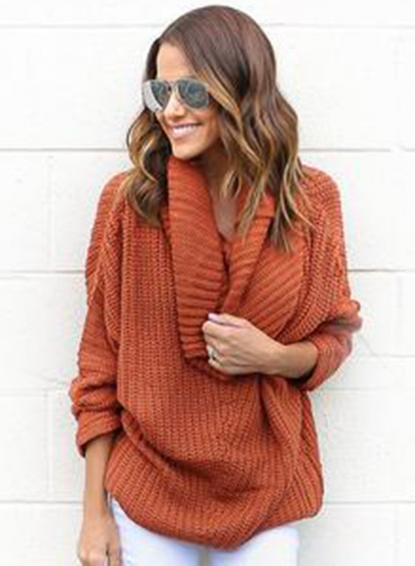 Best Of Cowl Neck Pullover Knitted Sweater Oasap Cowl Neck Knit Sweater Of Top 42 Pictures Cowl Neck Knit Sweater