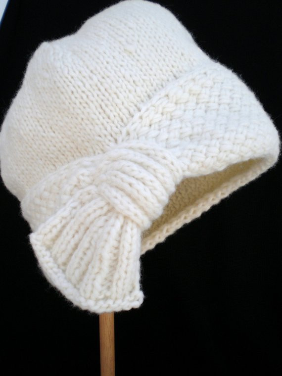 Best Of Cream Hand Knit Flapper Style Cloche Hat by Ohmay On Etsy Knit Cloche Hat Of Attractive 40 Photos Knit Cloche Hat