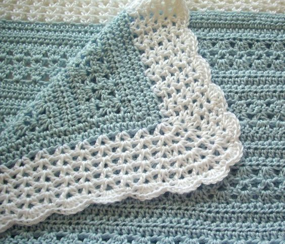 Best Of Crochet Baby Blanket soft Blue with White Border Boy Vintage Baby Blankets Of Adorable 44 Images Vintage Baby Blankets