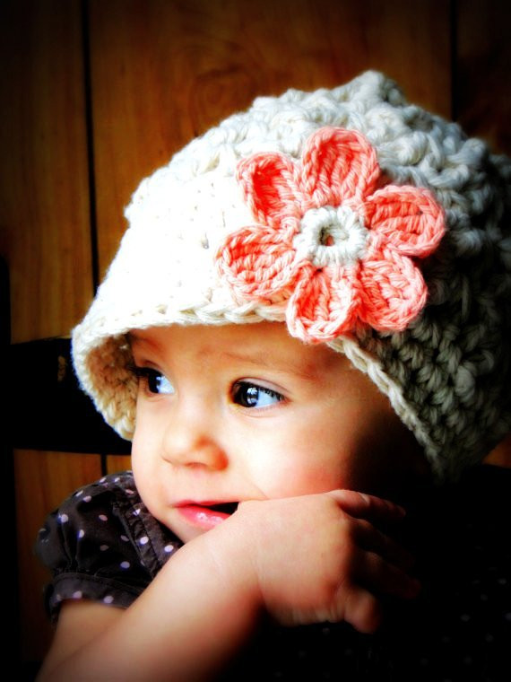 Best Of Crochet Baby Hat with Brim Your Baby Should Have One Crochet Baby Girl Hat Of Contemporary 45 Pics Crochet Baby Girl Hat
