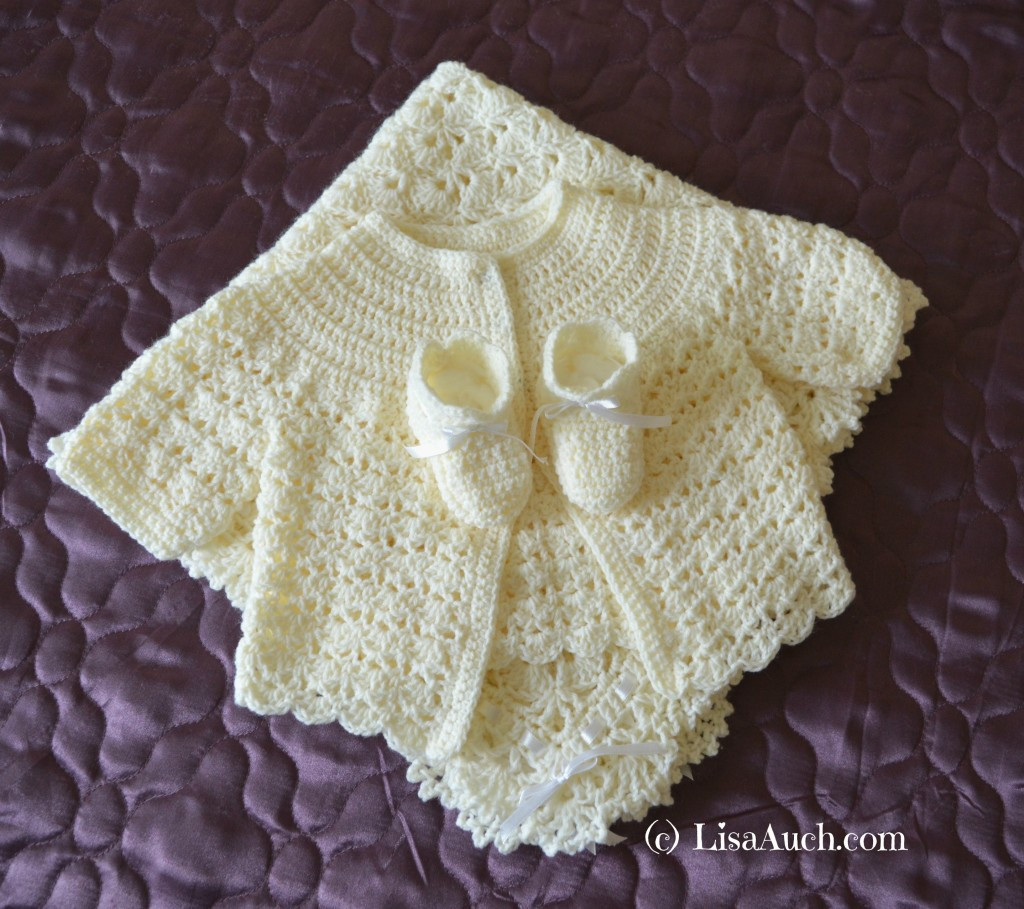 Best Of Crochet Beautiful Gift Crochet Blanket Shawl Booties and Crochet Baby Sweater Sets Of Charming 43 Photos Crochet Baby Sweater Sets