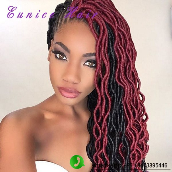 Best Of Crochet Braids with soft Dread Hair Burgundy Faux Locs Crochet Of Beautiful 41 Models Burgundy Faux Locs Crochet