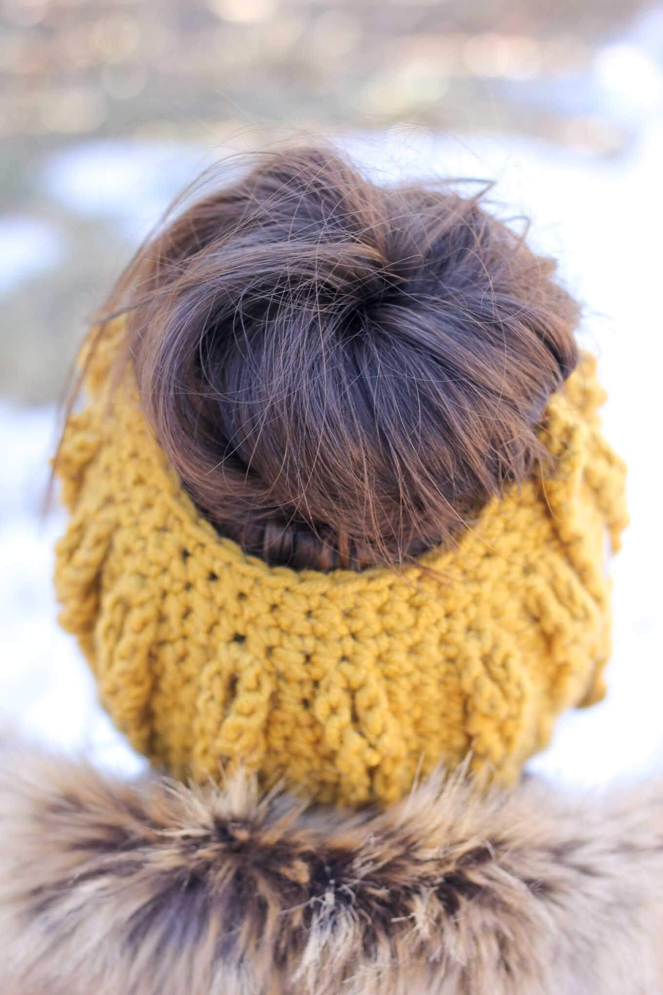 Best Of Crochet Bun Beanie with Faux Cables Free Pattern and Bun Beanie Crochet Pattern Of Charming 42 Pics Bun Beanie Crochet Pattern