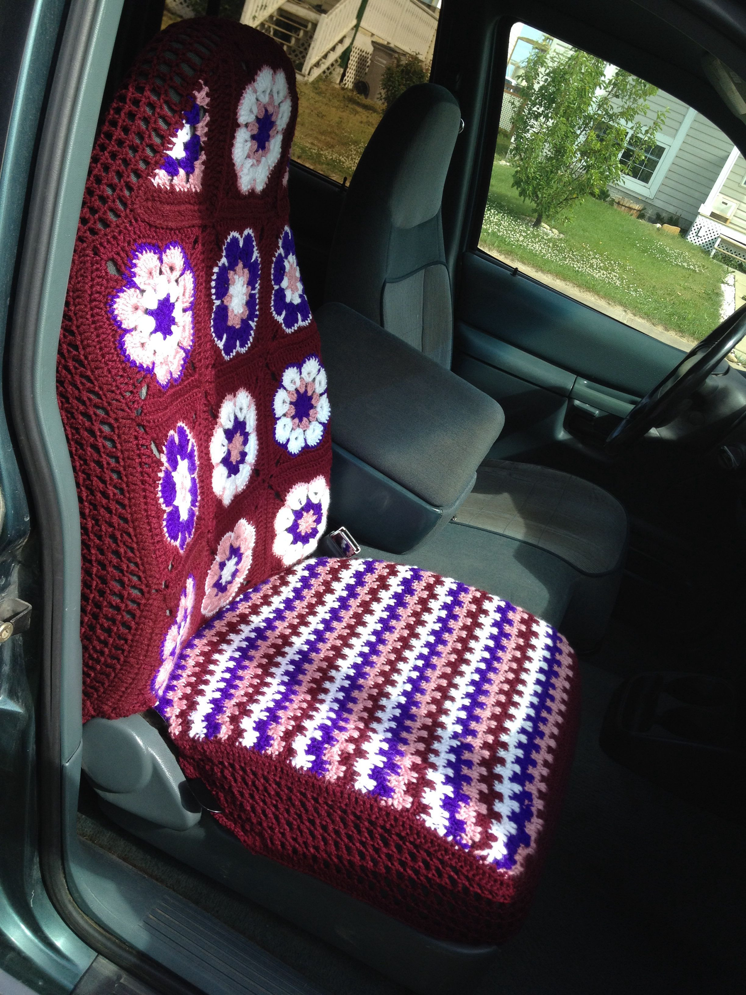 Best Of Crochet Car Seat Cover No Pattern Just Winged It Crochet Seat Cover Of Beautiful Crochet Car Front Seat Cover Aran Grey Heather Ccfsc1a Crochet Seat Cover