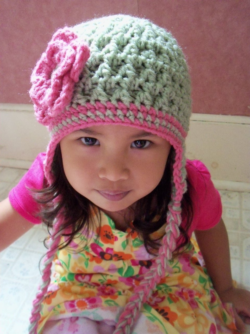 Crochet Children HatToddler Hat Baby Girl Hat Crochet