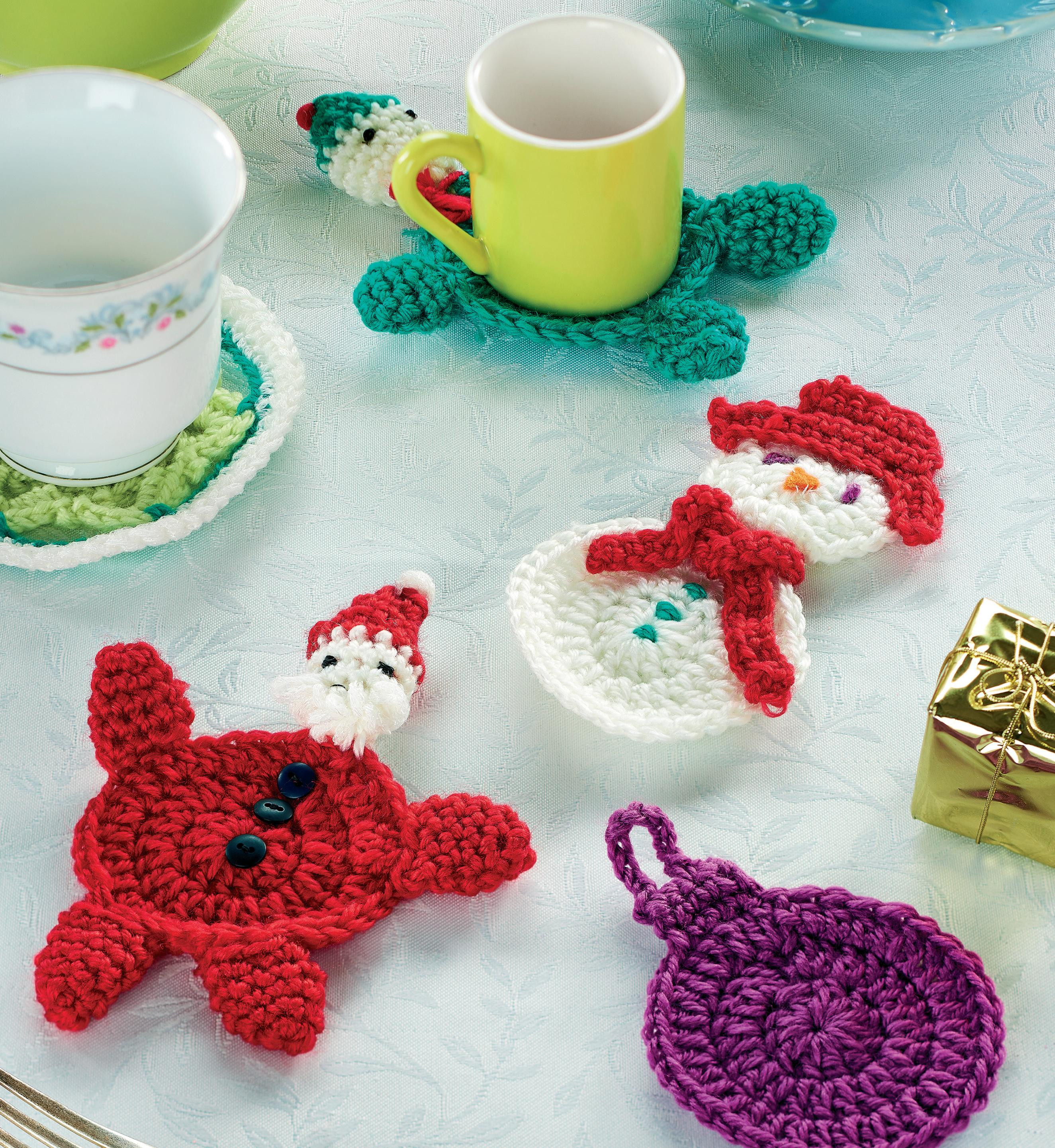 Crochet christmas coasters Crochet Pattern