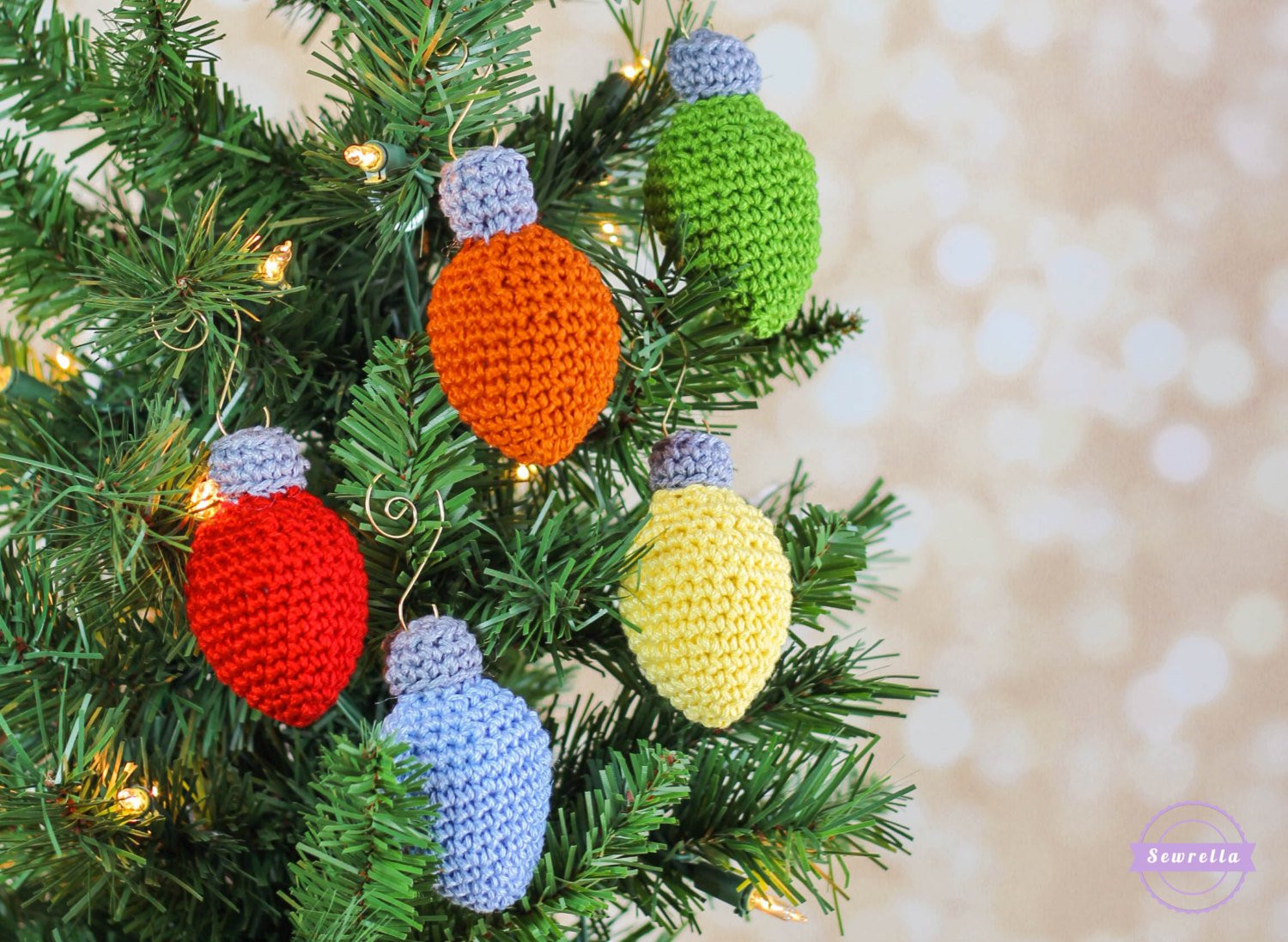 Best Of Crochet Christmas Lights ornament Pattern Pdf Instant Digital Crochet ornament Patterns Of Beautiful 40 Pictures Crochet ornament Patterns