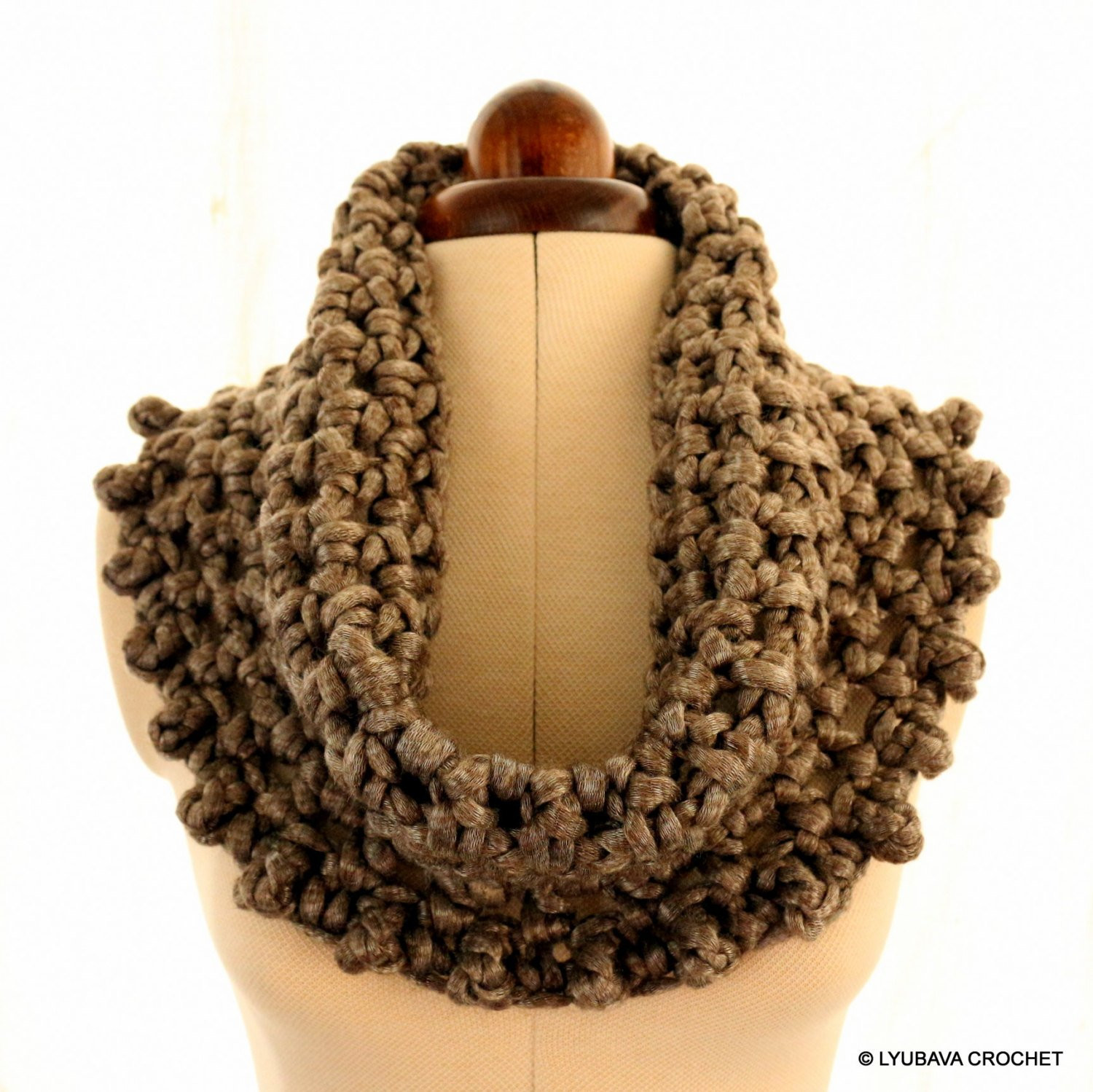 Best Of Crochet Cowl Pattern Chunky Scarf Cowl Metallic Gray Circle Chunky Scarf Pattern Of Marvelous 49 Photos Chunky Scarf Pattern
