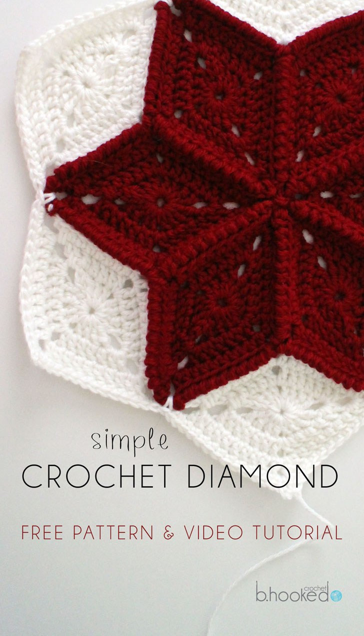 Best Of Crochet Diamond Granny Square Free Pattern & Tutorial Crochet Directions Of Lovely 43 Photos Crochet Directions