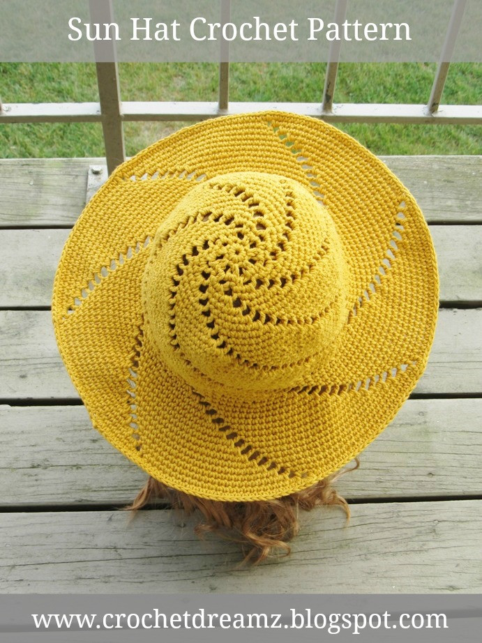 Best Of Crochet Dreamz Sunsational Sun Hat Crochet Pattern Crochet Sun Hat Pattern Of Superb 48 Ideas Crochet Sun Hat Pattern
