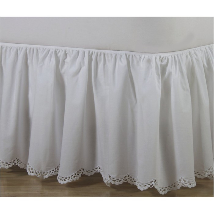 Best Of Crochet Edge Scalloped Cotton Bed Skirt Crochet Bed Skirts Of Gorgeous 41 Pics Crochet Bed Skirts