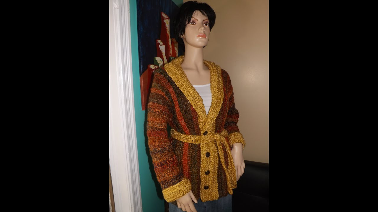 Crochet fall sweater or cardigan with Ruby Stedman
