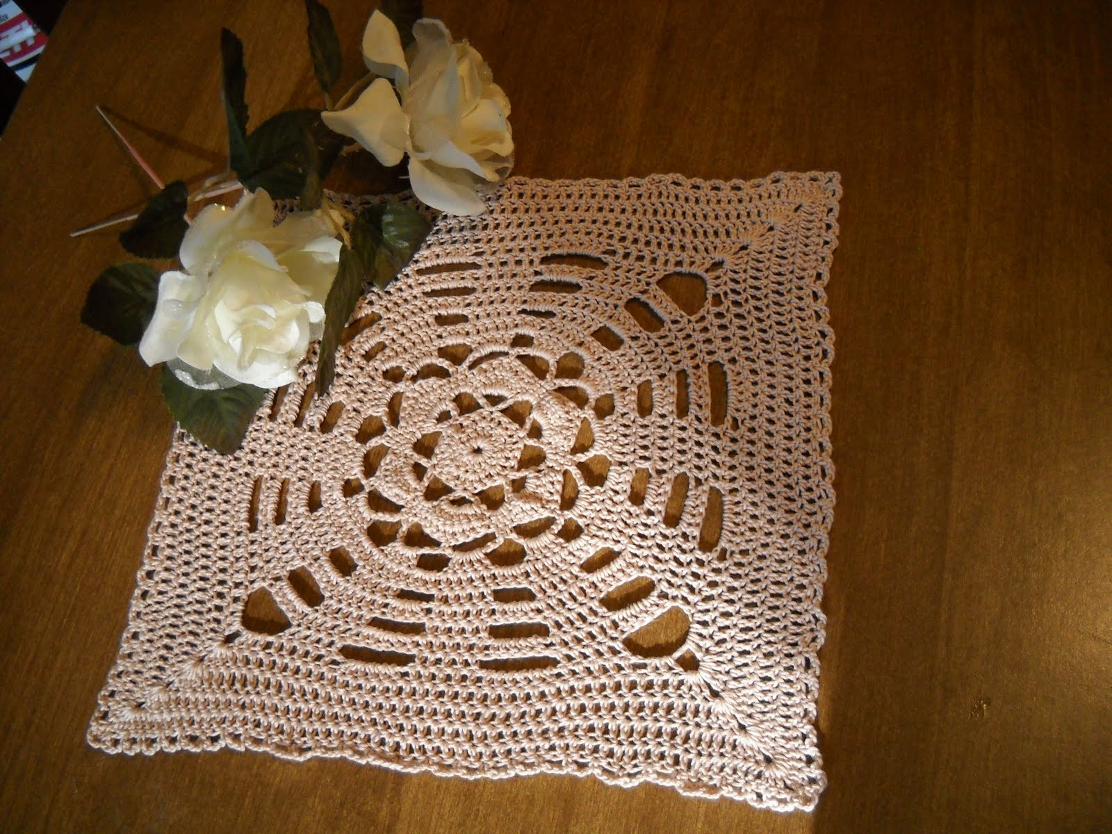 Crochet Galore Square Doily September Doily of The Month