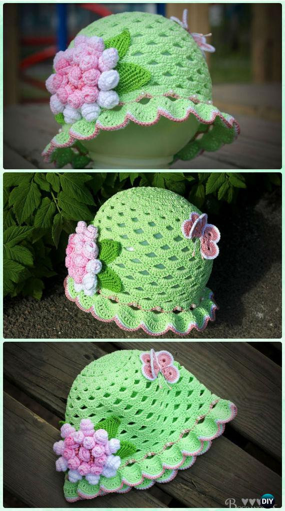 Best Of Crochet Girls Sun Hat Free Patterns Instructions Crochet Summer Hat Pattern Of Incredible 46 Photos Crochet Summer Hat Pattern