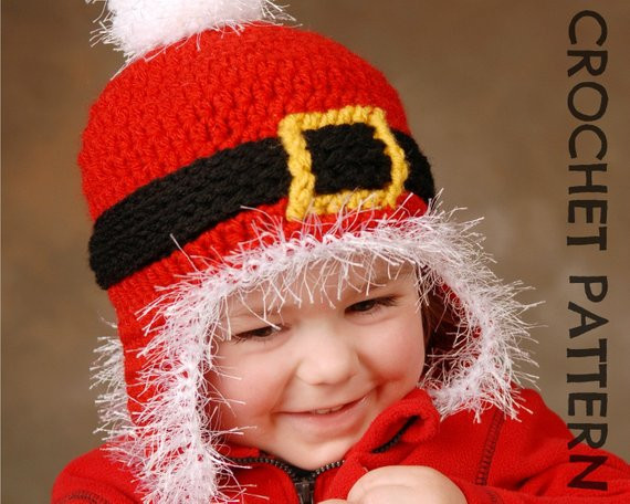 Best Of Crochet Hat Pattern Santa Ski Beanie Adults and Kids Santa Hat Pattern Of Awesome Items Similar to Knitting Pattern Santa Christmas Hat or Santa Hat Pattern