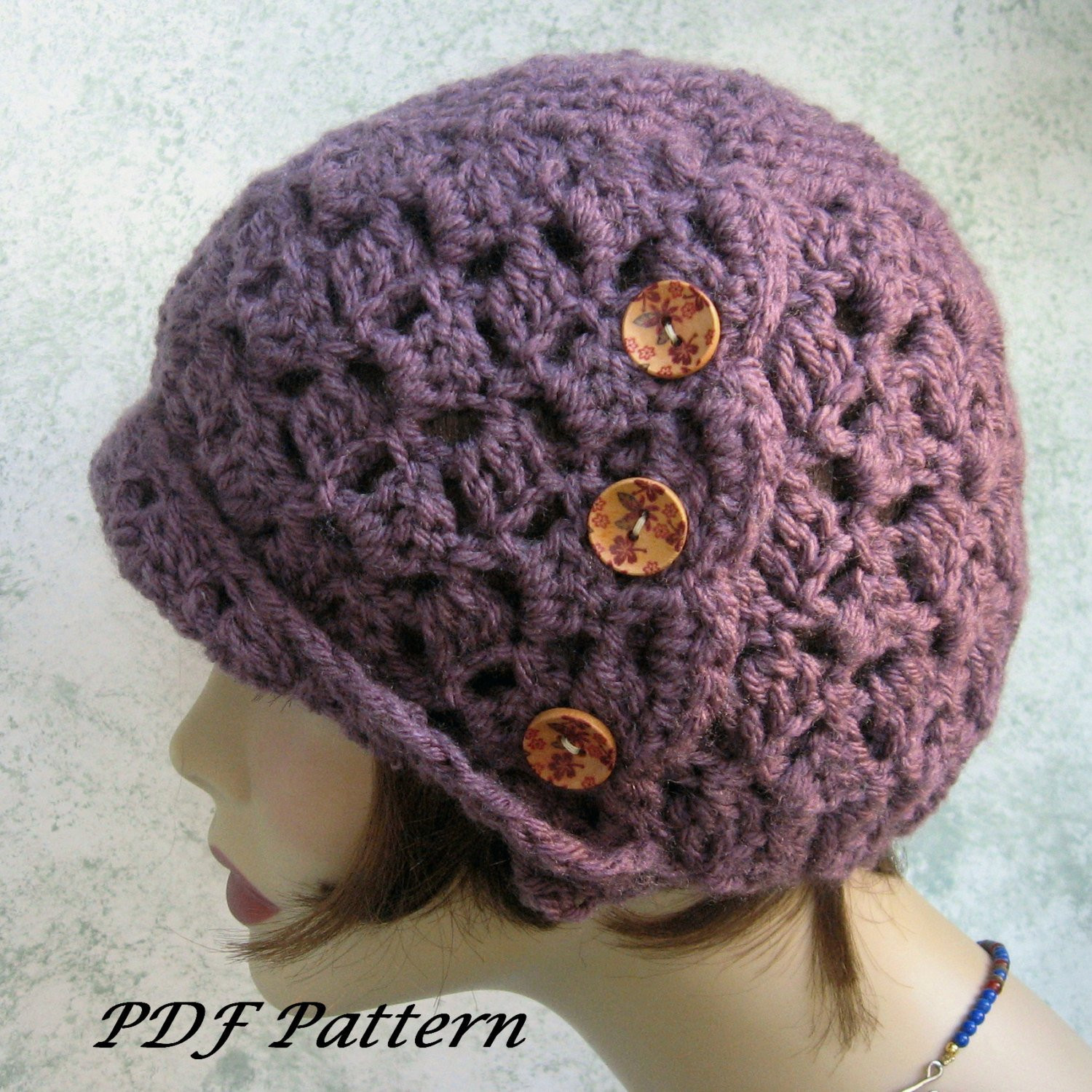 Best Of Crochet Hat Pattern Womens Side button Cloche Easy to Make Free Crochet Hat Patterns for Ladies Of Amazing 41 Pictures Free Crochet Hat Patterns for Ladies