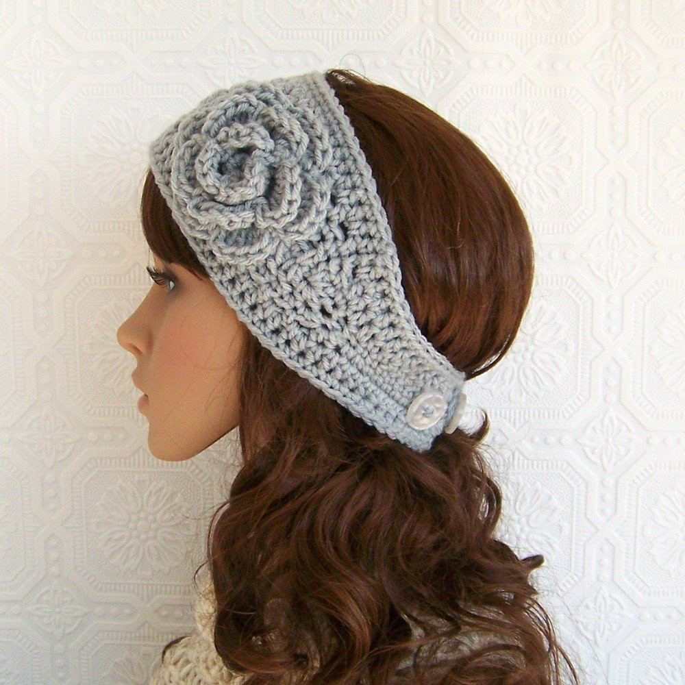 Best Of Crochet Headband Headwrap Ear Warmer with Flower Gray Mist Crochet Head Warmer Of Fresh 39 Photos Crochet Head Warmer