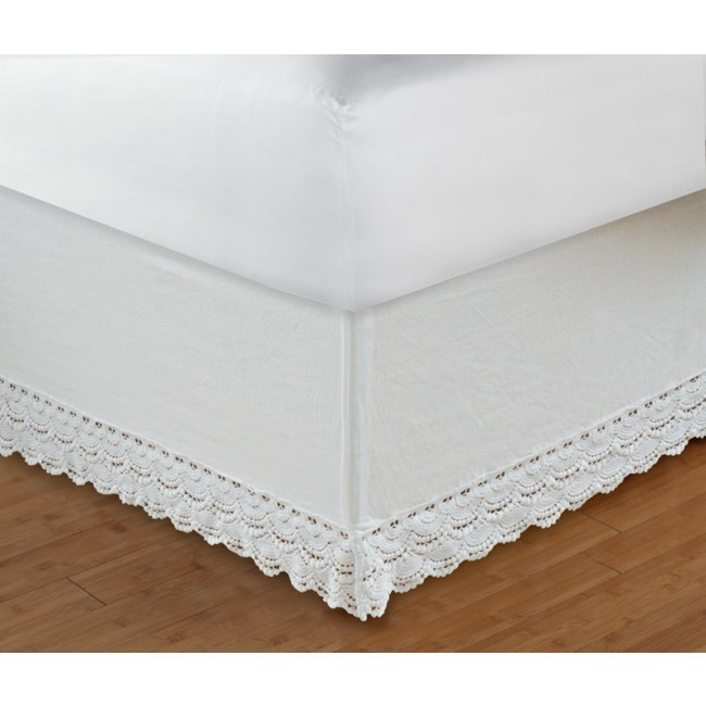"Best Of Crochet Lace Bed Skirt 18"" Drop by Greenland at Bedding Crochet Bed Skirts Of Gorgeous 41 Pics Crochet Bed Skirts"