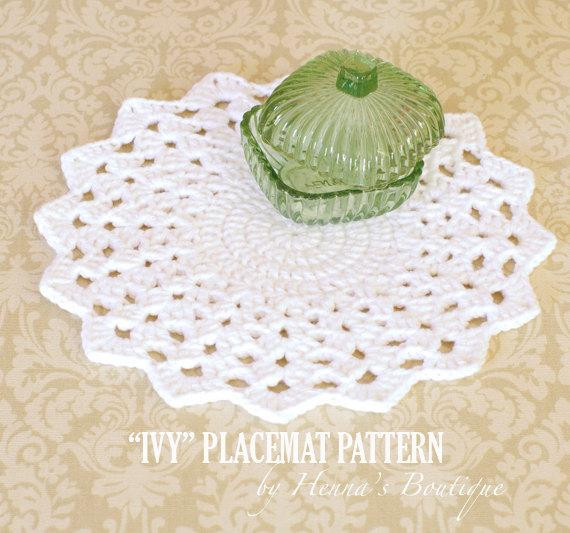 Best Of Crochet Placemat Pattern Round Ivy Placemats Pdf Crochet Placemats Of Gorgeous 40 Models Crochet Placemats
